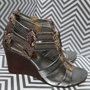 Donald J Pliner GINGE Animal Prints Wedge Sandals